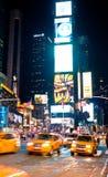 时代广场在晚上纽约,美国 图库摄影