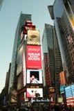 时代广场在晚上 免版税库存照片