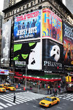 时代广场在曼哈顿纽约 库存照片