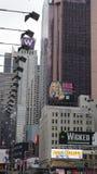 时代广场在曼哈顿,纽约 免版税库存图片