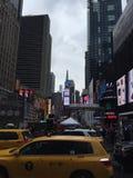 时代广场在百老汇纽约结束时 库存照片