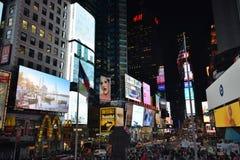 时代广场的游人 免版税库存照片