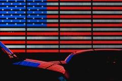 时代广场美国旗子 库存图片
