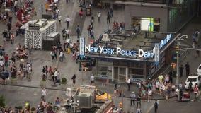 时代广场警察局从上面 股票录像
