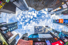 时代广场,以为特色与百老汇剧院和巨大数目  图库摄影