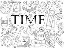 时间彩图传染媒介例证 库存照片