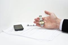 时间抽象想法在事务的 免版税库存图片