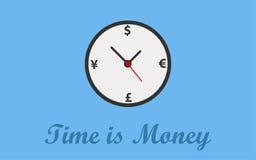 时间是金钱概念背景 免版税库存图片