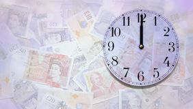 时间是金钱背景 图库摄影
