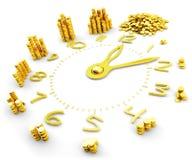 时间是金钱,做金钱、财务和企业概念 库存图片