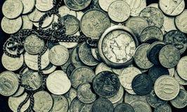 时间是金钱黑白照片 库存照片