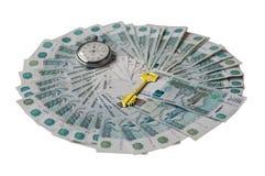 时间是钥匙对财富 免版税库存图片