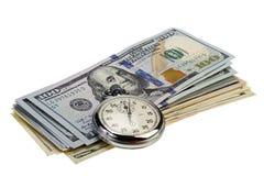 时间是货币概念 库存照片