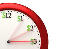 时间是货币 图库摄影