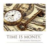 时间是货币 库存照片