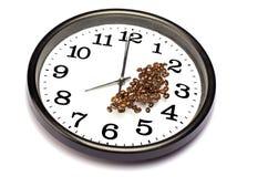 时间概念的咖啡 库存照片