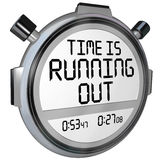 时间用尽秒表定时器时钟 图库摄影