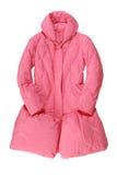 时兴的桃红色被填塞的外套 免版税图库摄影