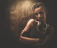 时兴的steampunk女孩 免版税库存照片