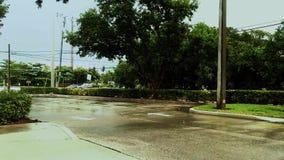 时间膝部红绿灯和停车场 股票录像
