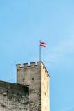 1077时代萨尔茨堡城堡的兔子塔 免版税库存图片