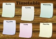 时间表 库存例证