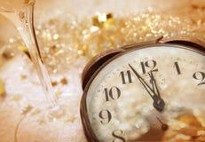 时间西尔维斯特新年 免版税库存照片