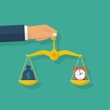 时间金钱概念 向量例证