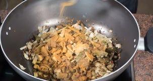 时间间隔:烹调一鸡tikka masala用印地安香料 股票录像