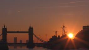 时间间隔 日出在伦敦的中心 股票视频