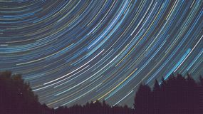 时间间隔Perseid流星雨- 2016年8月12日 库存照片