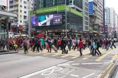 旺角邻里在香港 免版税库存照片