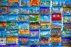 旺角,香港- 2018年1月11日:在sho的纪念品磁铁 库存图片