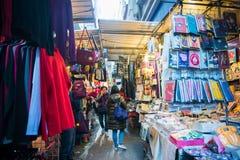 旺角,香港- 2018年1月11日:夫人销售是marketp 免版税库存图片