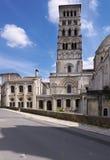 昂古莱姆大教堂塔  免版税库存照片