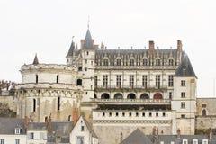 昂布瓦斯城堡,法国 免版税库存图片