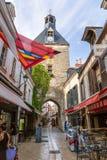 昂布瓦斯,法国 堡垒和钟楼主闸  免版税库存照片