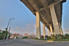 昂船洲大桥和Tsing sha高速公路 库存图片