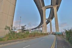 昂船洲大桥和Tsing sha高速公路 库存照片