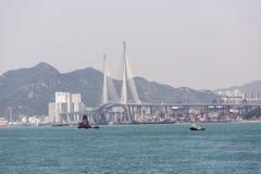 昂船洲大桥在香港 免版税图库摄影