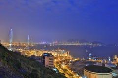 昂船洲大桥,香港2017年 免版税库存照片