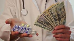 昂贵的医疗保健,腐败,医疗保险,贿赂 股票录像