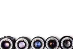 昂贵的摄影透镜 每位专业摄影师梦想  免版税库存图片