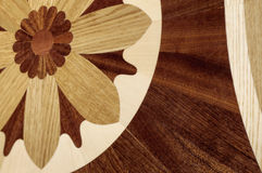 从昂贵的木头的美丽的被仿造的木条地板 库存图片