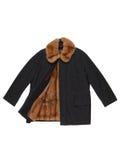 昂贵的男性外套有marshotter衬里 库存照片
