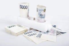 昂贵的能耗的金钱概念 免版税库存图片