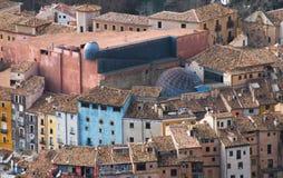 昆卡省市在拉曼查区在中央西班牙 免版税图库摄影