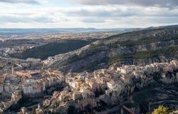 昆卡省市在拉曼查区在中央西班牙 免版税库存图片