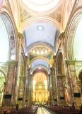 昆卡省,厄瓜多尔新的大教堂的内部  库存照片