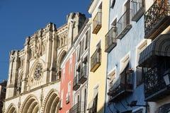 昆卡省& x28; Spain& x29; 大教堂 库存图片